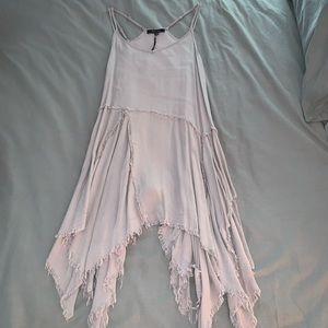 Honey Punch Gray Exposed Seam Dress